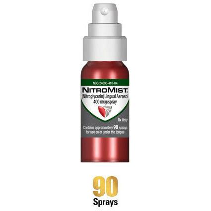 Nitromist 400mcg Spray