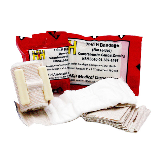 Thin H Bandage Compression Dressing, Standard Fold
