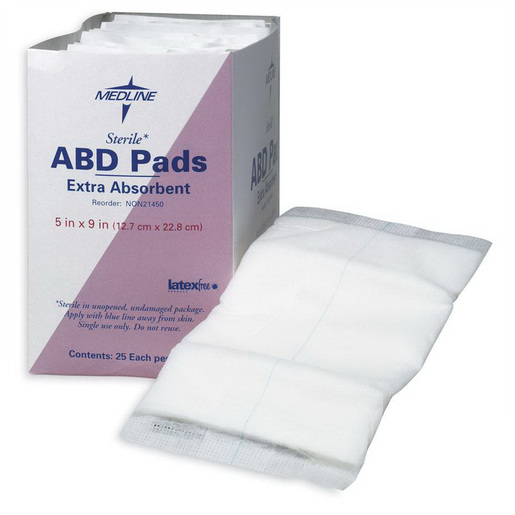 Abdominal Pads, 5in x 9in