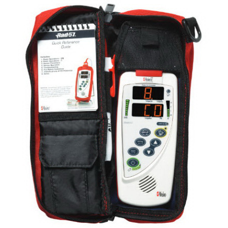 Rad-57® Kit with SpCO Option, Adult and Pediatric Rainbow Sensor, RC-01 Cable and Red Carry Case