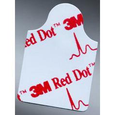 Red Dot™ Plastic Film Resting EKG Electrodes, Adult, 2cm x 2cm Size