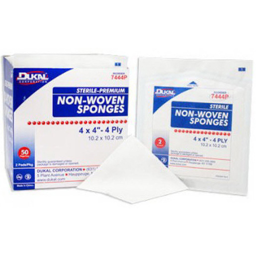 Clinisorb Sterile Non-Woven Sponges, White, Polyester/Rayon, 4in x 4in