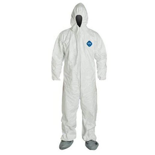 Tyvek Coveralls with Hood, Boots and Elastic Wrists