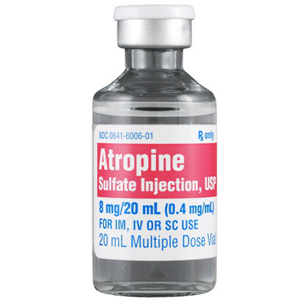 Atropine 8mg, 20ml Vials