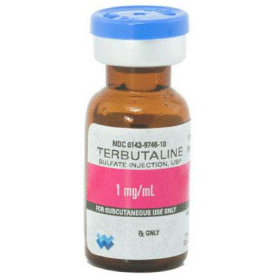 *Box Quantity* Brethine® Terbutaline, 1mg, 1ml Vial