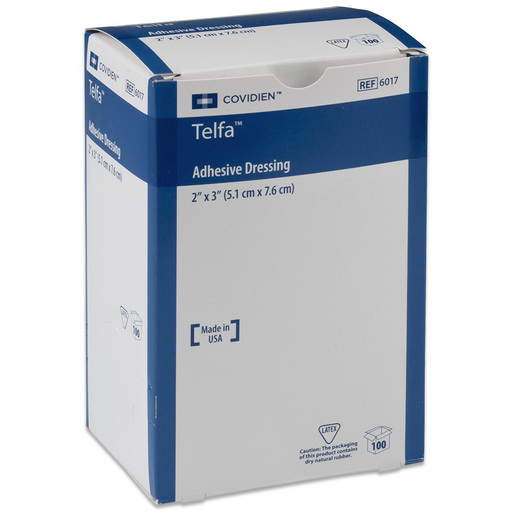 Telfa™ Ouchless Adhesive Dressing, 3in x 4in