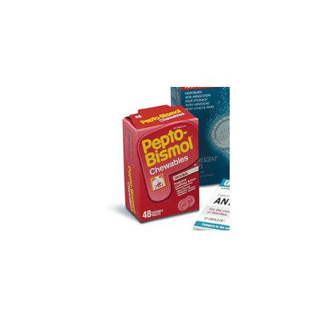 Pepto Bismol Antacid Chewable Tablets, 262mg, Original Flavor, 48 Tablets