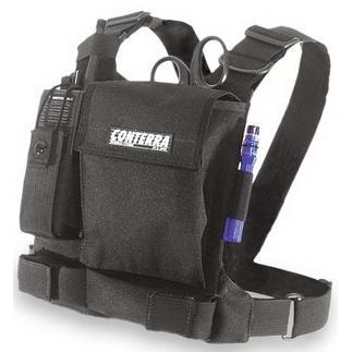 Tool Chest Radio Chest Harness, Cordura Nylon, Black