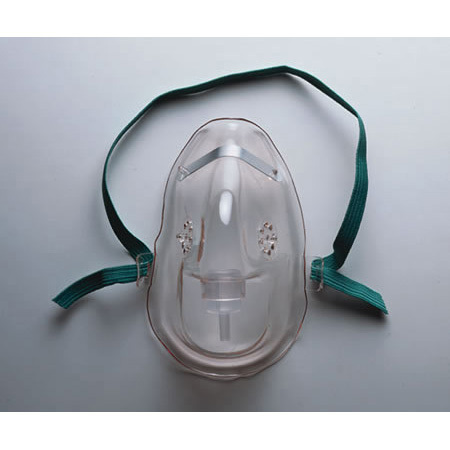 Oxygen Mask, AirLife, Adult, 3-in-1, Medium Concentration, Under-the-Chin, Safety Vent, 7 ft Tubing