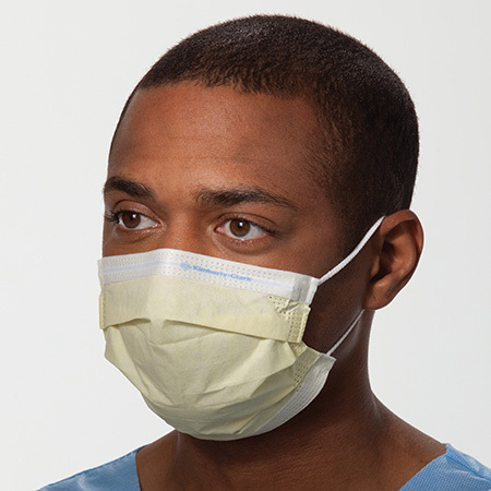 Mask, Procedure, Isolation, w/Earloops, High Filter, yellow