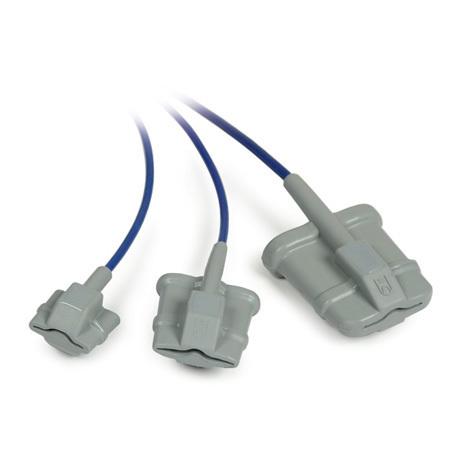 Pulse Oximeter Sensor, Reusable, 3ft, Finger, Soft Tip, Adult Medium