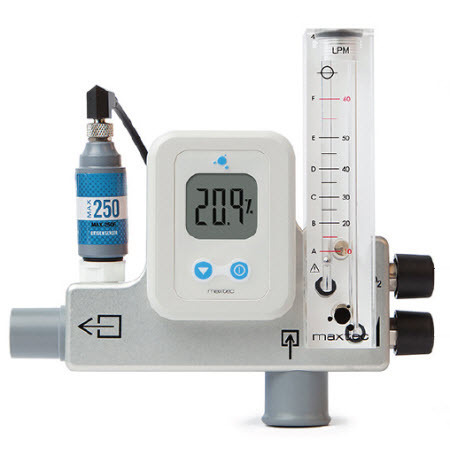 Mixer, Air/Oxygen, MaxVenturi, High Flow, DISS Fittings, Pole Mount