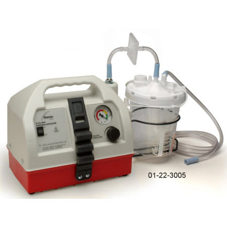 Mobile Aspirator, Gomco 305, 22in Hg, 1500ml Canister, Suction Tubing Kit, 3 Filters