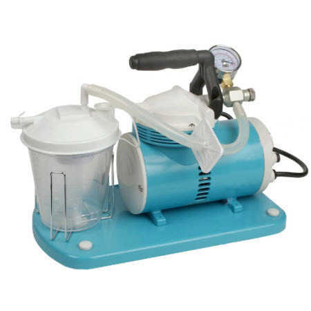 Suction Unit, Schuco, Portable, 115 volts, w/800 cc Canister, 0 to 22 Hg, 40 LPM, UL listed