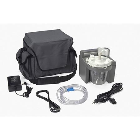 Suction Unit, HomeCare, Disposable Bottle, Tubing, Elbow, AC DC Cords, Rechargeable Battery, 800 cc