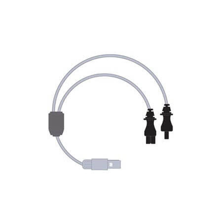 Dual Heated Wire Humidifier Adapter Lead