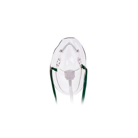 Oxygen Mask, Medium Concentration, Adult, Elongated, 7ft Oxygen Supply Tubing, Adjustable Noseclip