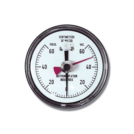 NIF Meter, 60 cm H2O, 2 cm Markings, Reusable, 1/4-in NPT Connection, Adapter, Resettable Pointer