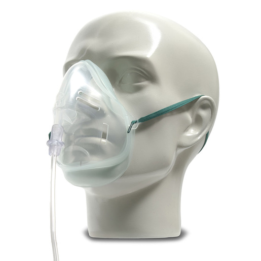 Eco Oxygen Mask, 7in Oxygen Tubing, Adult