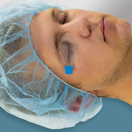 Eye Cover, EyeGard, Adult, Oval, Blue Tab, Non-Sterile, Hypoallergenic, Breathable, Adhesive