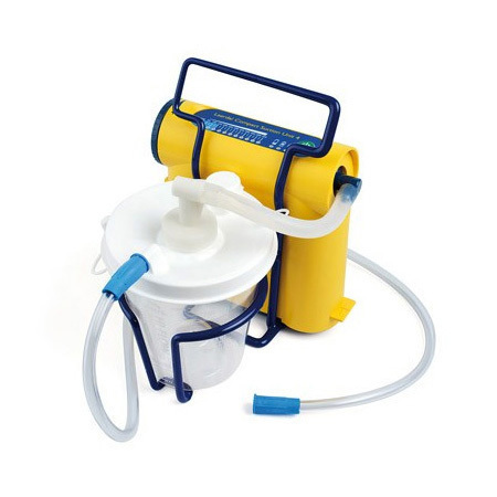 Suction Unit, Compact, Laerdal, Complete, w/Canister, Filter, Regulator, Battery, Cord, Charger, Case