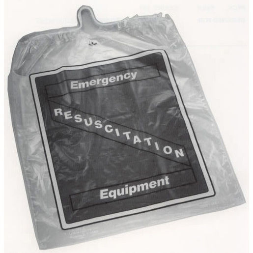 Resuscitation Equipment Bag, Clear, Cotton Drawstring, 17 x 21 inches