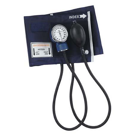 Blood Pressure Unit, Economy, 2 Tube, Blue Nylon Cuff, Zippered Carrying Case, Adult