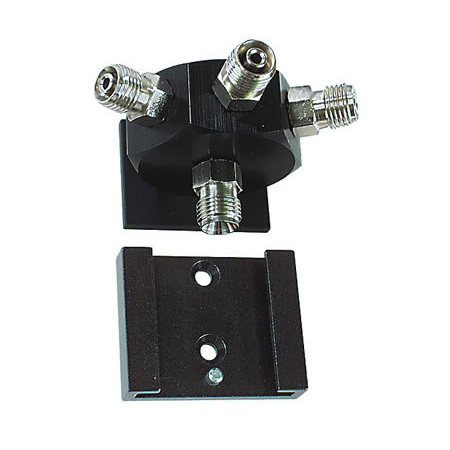 Rail Block Assembly, Air, Plate, Wall Bracket, DISS Male Inlet, Hex Block - 3 Outlets, 2 Screws
