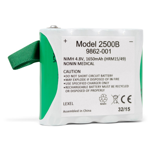Battery Pack, Rechargeable, NiMH, for PalmSAT 2500 Pulse Oximeter