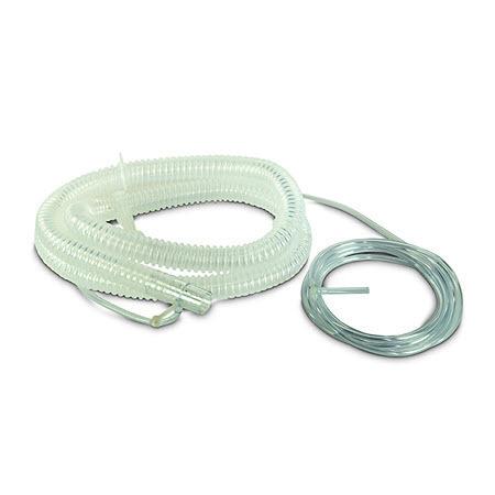 Patient Circuit, BiPAP, NIV, Disposable, Port, Pressure Line, Tee, 2 Clips, 6-ft Tubing, 7-ft