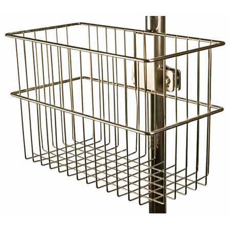 VMO Stand, 12in Width, 5 3/4in Depth, 8in Height, Chrome, Fits 1 1/4in Poles
