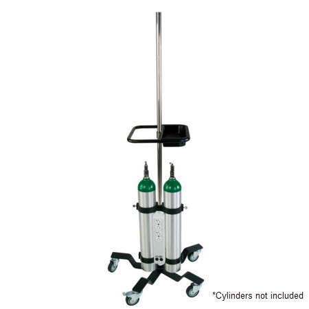 Equipment Poles, Heavyweight Base, Stainless Steel