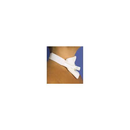 Tracheostomy Tube Holder, Trach-Tie II, Adult, Adjustable, Hypoallergenic Cotton-Pile, 2-Piece